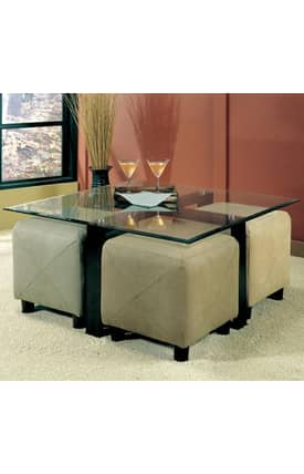 Coaster Company Tables Cermak Contemporary Square Metal Cocktail Table Furniture