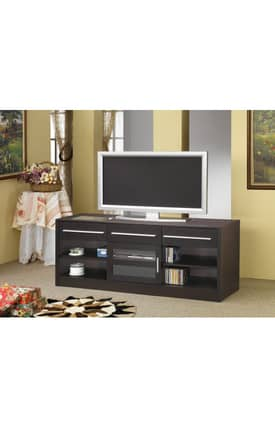 Coaster Company TV Stands Contemporary TV Stand With Shelves And Connect It Power Drawer Furniture