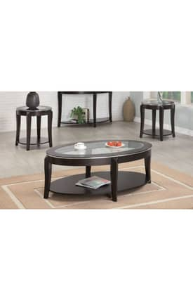 Coaster Company Tables Wacker Contemporary 3 Piece Occasional Table Set Furniture