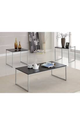 Coaster Company Tables Contemporary 3 Piece Occasional Table Set Furniture