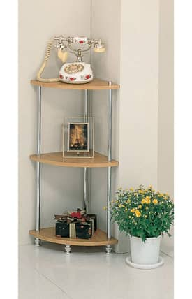 Coaster Company Racks Contemporary Four Tier Corner Shelf Furniture