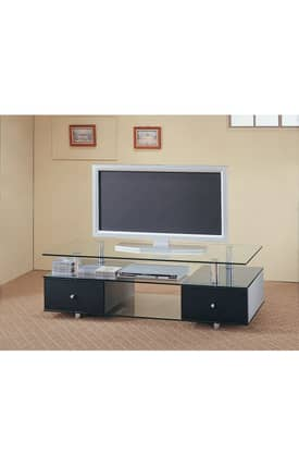 Coaster Company TV Stands Contemporary TV Stand Media Console With Drawers And Shelves Furniture