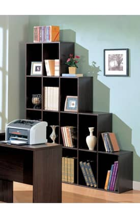 Coaster Company Bookcases Decarie Contemporary Asymmetrical Cube Book Shelves Furniture