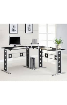 Coaster Company Desks L-Shape Computer Desk Furniture