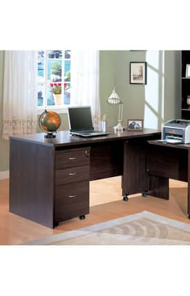 Coaster Company Desks Decarie Contemporary Writing Desk With Drawers Furniture
