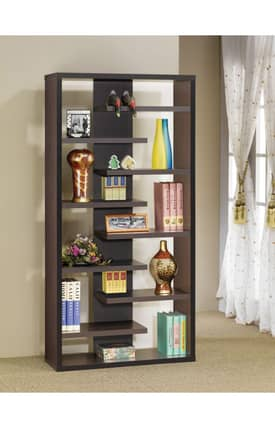 Coaster Company Bookcases Contemporary Asymmetrical Bookcase Furniture