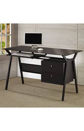 Coaster Company Desks Computer Desk With Two Storage Drawers Furniture