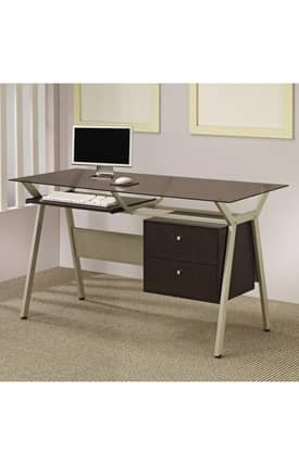 Coaster Company Desks Computer Desk With Two Drawers Furniture