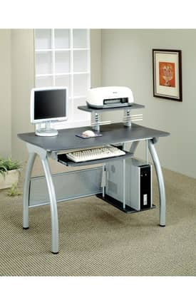 Coaster Company Desks Contemporary Computer Desk With Keyboard Tray And Computer Storage Furniture