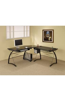 Coaster Company Desks Contemporary L Shaped Computer Desk Furniture