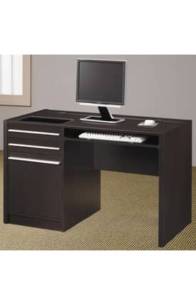 Coaster Company Desks Ontario Contemporary Single Pedestal Computer Desk Furniture