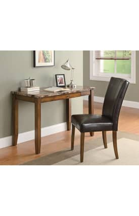 Coaster Company Desks Contemporary Writing Desk And Chair Set Furniture