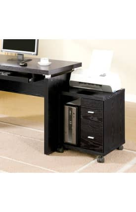 Coaster Company Stands Peel Contemporary Computer Stand With Two Drawers Furniture