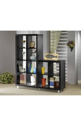 Coaster Company Bookcases Contemporary Asymmetrical Cube Bookcase Furniture