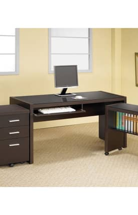 Coaster Company Desks Papineau Contemporary Computer Desk With Keyboard Drawer Furniture