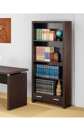 Coaster Company Bookcases Papineau Contemporary Bookcase With Shelves Furniture