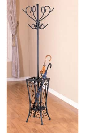 Coaster Company Racks Traditional Metal Coat Rack With Umbrella Stand Furniture