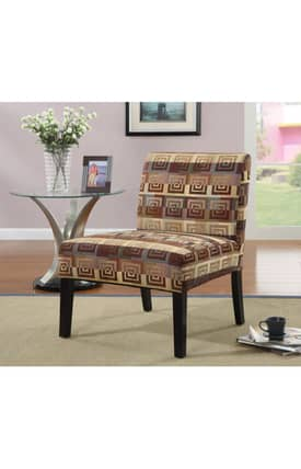 Coaster Company Chairs Contemporary Square Spiral Patterned Accent Chair Furniture