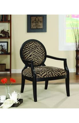 Coaster Company Chairs Louis Style Animal Print Accent Chair Furniture