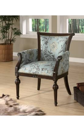 Coaster Company Chairs Elegant Traditional Exposed Wood Accent Chair Furniture