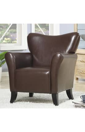 Coaster Company Chairs Contemporary Vinyl Upholstered Chair Furniture