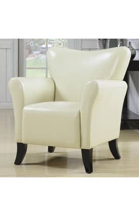 Coaster Company Chairs Contemporary Vinyl Upholstered Accent Chair Furniture