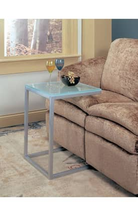 Coaster Company Chairs Contemporary Accent Table With Frosted Glass Top Furniture