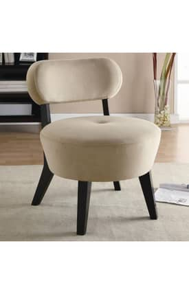 Coaster Company Chairs Exposed Wood Microfiber Accent Chair Furniture