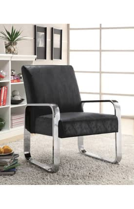 Coaster Company Chairs Contemporary Accent Chair With Metal Arm Furniture