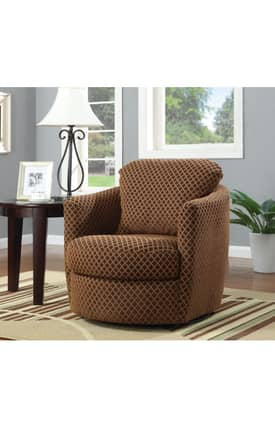 Coaster Company Chairs Contemporary Upholstered Swivel Accent Chair Furniture