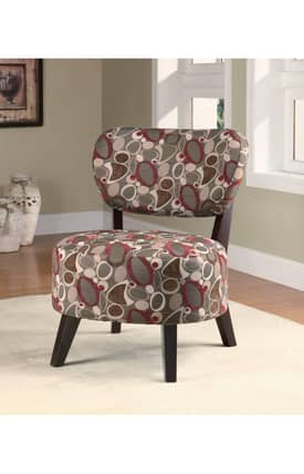 Coaster Company Chairs Contemporary Print Upholstered Accent Chair Furniture