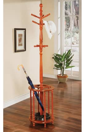 Coaster Company Racks Traditional Coat Rack With Umbrella Stand Furniture