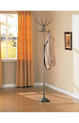 Coaster Company Racks Traditional Metallic Coat Rack Furniture