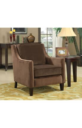 Coaster Company Chairs Contemporary Upholstered Accent Chair With Basket Weave Furniture