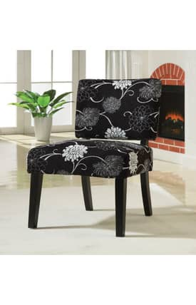 Coaster Company Chairs Contemporary Floral Print Upholstered Accent Chair Furniture