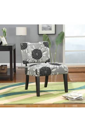 Coaster Company Chairs Contemporary Flower Print Upholstered Accent Chair Furniture
