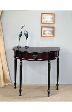 Coaster Company Tables Traditional Curved Entry Console Table With Storage Drawer Furniture