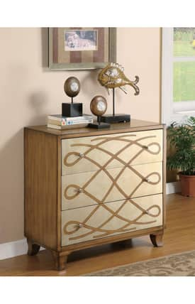 Coaster Company Cabinets Traditional Antique Cabinet With Celtic Pattern Furniture