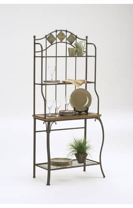 Hillsdale Furniture Racks Lakeview Slate Baker's Rack Furniture