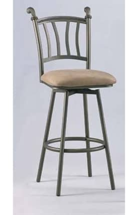 Chintaly Imports Bar Stools Swivel Bar Height Stool Bronze (Sets of 2) Furniture