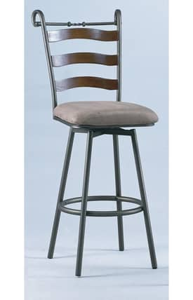 Chintaly Imports Bar Stools Swivel Bar Height Stool Copper (Sets of 2) Furniture