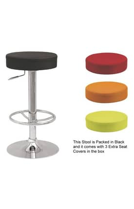 Chintaly Imports Stools Backless Pneumatic Gas Lift Adjustable Stool Furniture