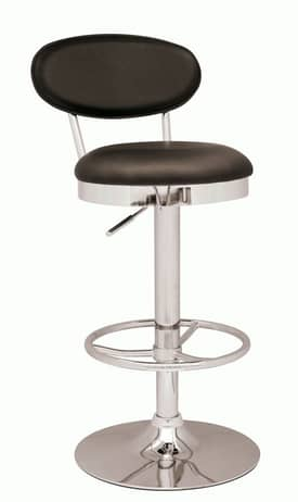 Chintaly Imports Stools Pneumatic Gas Lift Adjustable Height Swivel Bar Stool Furniture