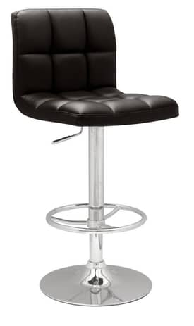 Chintaly Imports Stools Stitched Seat and Back Pneumatic Gas Lift Adjustable Height Swivel Stool Furniture