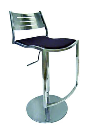 Chintaly Imports Bar Stools Shiny Adjustable And Swivel Bar Stool Furniture