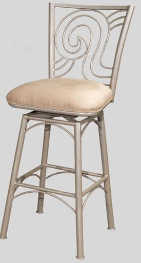 "Chintaly Imports Stools Contemporary 30"" Memory Return Swivel Bar Height Bar Stool Furniture"