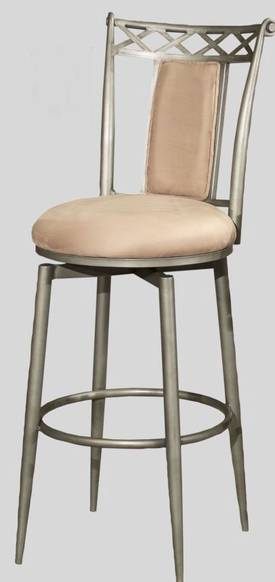 "Chintaly Imports Stools Traditional 30"" Memory Return Swivel Bar Height Bar Stool Furniture"