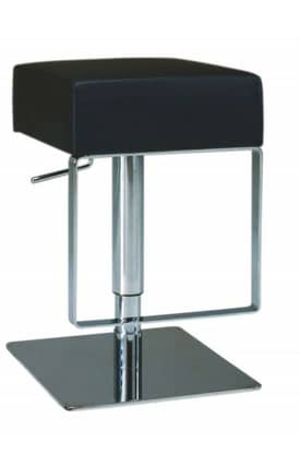 Chintaly Imports Stools Contemporary Pneumatic Gas Lift Adjustable Height Swivel Stool Furniture