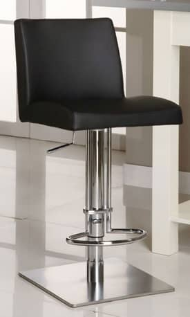 Chintaly Imports Stools Pneumatic Gas Lift Adjustable Height Swivel Stool Furniture