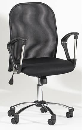Chintaly Imports Chairs Adjustable Mesh Back Swivel Tilt Office Chair Furniture